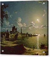Moonlight Scene Acrylic Print by Sebastian Pether