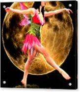Moonlight Stroll Of A Fairy Acrylic Print