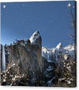 Moonlit Bridalveil  Falls-yosemite Valley Acrylic Print