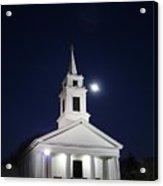 Moonlit Church Acrylic Print