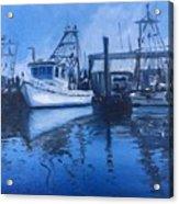 Moonlit Harbor Acrylic Print