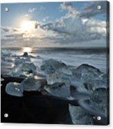 Moonlit Ice Beach Acrylic Print