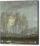 Moonlit Landscape Acrylic Print