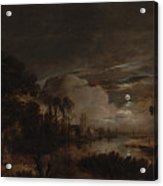 Moonlit Landscape With A View Acrylic Print