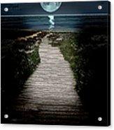 Moonlit Night At The Beach Acrylic Print