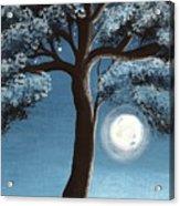 Moonlit Tree Acrylic Print