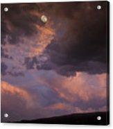 Moonrise And Sunset Acrylic Print