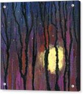 Moonrise In December Acrylic Print