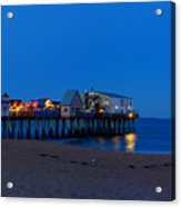 Moonrise In Old Orchard Beach Acrylic Print