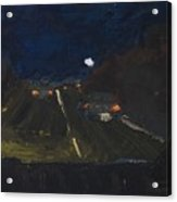 Moonrise On The Road Acrylic Print
