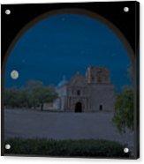Moonrise On Tumacacori Mission Acrylic Print