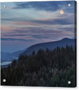 Moonrise Over Crown Point Acrylic Print