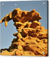 Moonrise Over Fantasy Canyon Hoodoo Acrylic Print