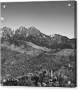 Moonrise Over Four Peaks Acrylic Print