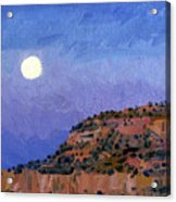 Moonrise Over Gallup Acrylic Print