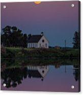 Moonrise Over Lake Badus Acrylic Print