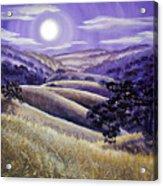 Moonrise Over Monte Bello Acrylic Print