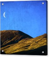 Moonrise Over Queenstown Acrylic Print