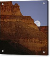 Moonrise Over The Grand Canyon Acrylic Print