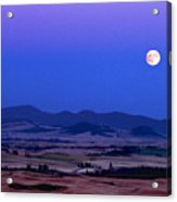 Moonrise Over The Palouse By Jean Noren Acrylic Print