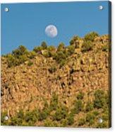 Moonrise Rio Grande Gorge Pilar New Mexico Acrylic Print