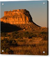 Moonset At Fajada Butte Acrylic Print