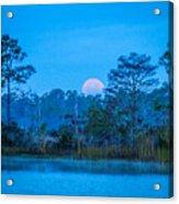 Moonset At The Hungryland Acrylic Print