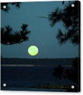 Moonset On Rayburn Lake Acrylic Print