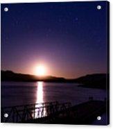 Moonset Over Abiquiu Lake Acrylic Print
