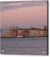 Moonset Over Venice Acrylic Print