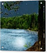 Moonstruck 'my Starry Night' Acrylic Print