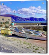 Moored Boat On Purteen Harbour Acrylic Print