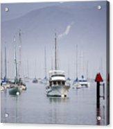Moored Boats In Morro Bay Acrylic Print