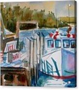 Moored Fishing Boat Acrylic Print