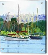 Moored Ketch Acrylic Print