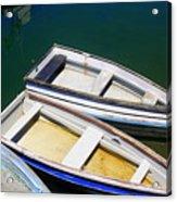Moored Rowboats Acrylic Print