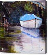 Moored Rowing Boat Acrylic Print