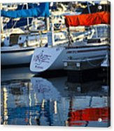 Moored Sailboats Acrylic Print