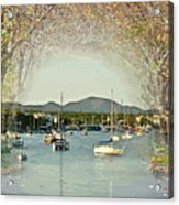 Moored Yachts In A Sheltered Bay Acrylic Print