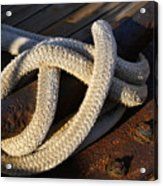 Mooring Rope Made Fast Acrylic Print