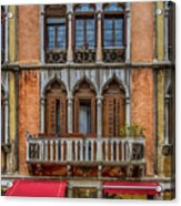 Moorish Style Windows Venice_dsc1450_02282017 Acrylic Print