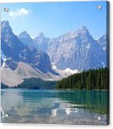 Moraine Lake Down Low Acrylic Print