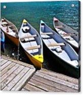 moraine lake in banff national park, alberta, Canada Acrylic Print