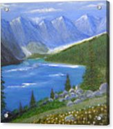 Moraine Lake, 16x20, Oil, '07 Acrylic Print