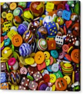 More Beautiful Marbles Acrylic Print