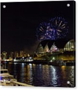 More Fireworks At Newcastle Quayside On New Year's Eve Acrylic Print