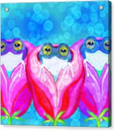 More Rose City Rain Frogs Acrylic Print