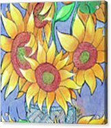 More Sunflowers Acrylic Print by Loretta Nash