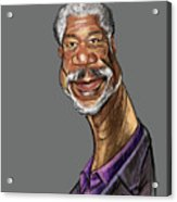 Morgan Freeman Acrylic Print