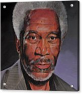 Morgan Freeman Portrait Acrylic Print